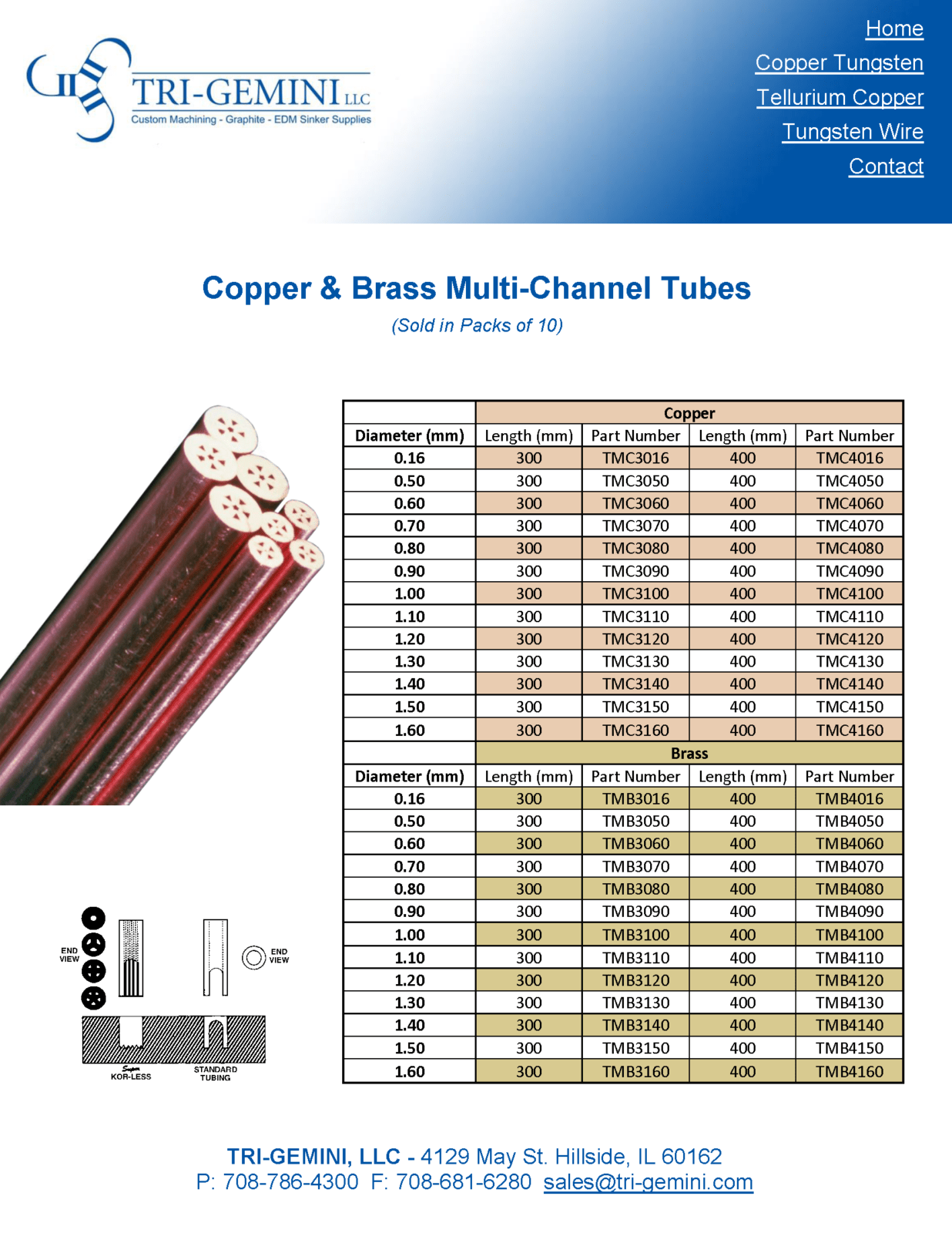 Copper & Brass Multi-Channel Tubes